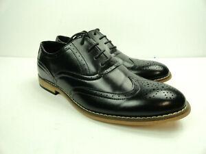 Stacy Adams Boys Big Kid Dunvar Black Oxford Dress Wingtip Shoes Size US 4.5