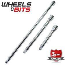"""1/2"""" Inch Drive Wobble Extension bar 3pc set 15cm 25cm 45cm 6"""" 10"""" 18"""" INCH Long"""