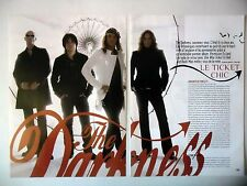 COUPURE DE PRESSE-CLIPPING :  THE DARKNESS [4pages] 2005 Justin Hawkins,One Way