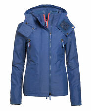 New Womens Superdry Hooded SD-Wind Yachter Light Blue Marl