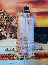 TWINSET Simona Barbieri   Kleid Damen transparent Blumen Tunikakleid GR.34 36