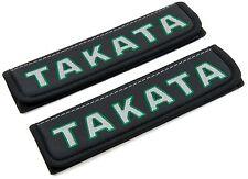 Leather Car Seat Belt Shoulder Pad Covers Cushion Comfort Interior TAKATA 2 pcs