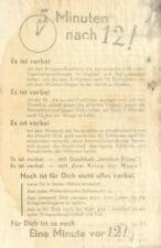Brow Anti propaganda ww II 1944, Flyer 5 minutes after 12! it is gone