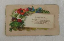 Antique Original Victorian Calling Card  Mary A. Morris HAPPY NEW YEAR