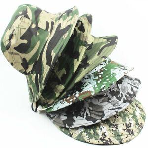 Casual Outdoor Men Man Fishermans Camouflage Hat Cap Bboy Caps Sun Protection