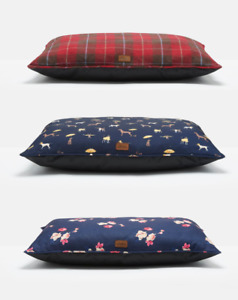 JOULES DOG BEDS LUXURY PET PUPPY PILLOWS MED LARGE FLORAL, TWEED OR COASTAL BED