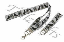More details for keeshond breed of dog matching lanyard | keyring key ring | bookmark