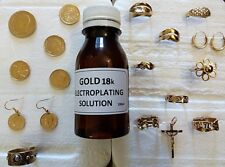 GOLD 18carats ELECTROPLATING  SOLUTION,  100ml solution = 0,7gr GOLD 18carats