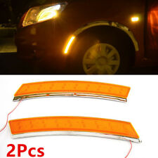 2xCar Wheel Eyebrow Side Marker Turn Signal Indicator Yelloww/18LED Light Safety