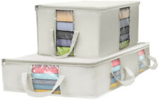 Sorbus Storage Bag Organizer Set (Storage Bag Set, Beige)