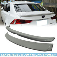 Painted For Lexus IS250 IS350 TRD Rear Boot Trunk Spoiler+D-Type Roof Spoiler ◎