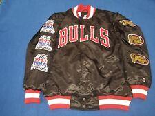 NWT CHICAGO BULLS Championship Finals satin STARTER black label large Jacket