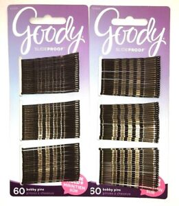 "GOODY Slideproof 2"" Bobby Pins  2 Packs of 60 Pins  /  120 Pins Total"
