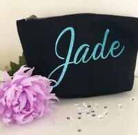 PERSONALISED MAKE UP BAG ANY NAME IN GLITTER
