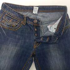 True Religion JOHNNY SUPER T Mens Jeans W34 L30 Dark Blue Regular Fit Straight