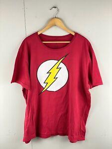 The Flash Men's Short Sleeve Superhero T-Shirt Size 4XL Red Yellow