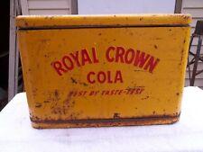 Vintage 1934 Red & Yellow Royal Crown Cola RC Best by Taste Cooler 20X14X10