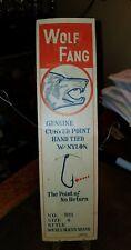 "Vintage 1950 Era ""White Fang"" Fishing Hooks On Card"