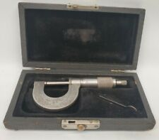Vintage Starrett Co No 3 Micrometer Felt Lined Jeweler Box Accurate Amp Function