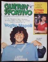 GUERIN SPORTIVO N. 23 DEL 1984 MARADONA VOGLIO NAPOLI ROMA LIVERPOOL