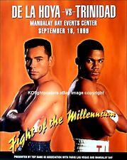 Oscar De La Hoya vs Felix Trinidad/Original On-Site de boxe Fight Poster