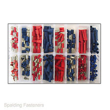 250 Red & Blue Insulated & Uninsulated Spade,Bullet,Ring,Socket Terminals