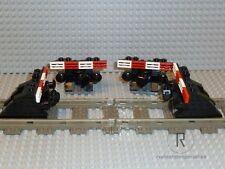 LEGO ® ferrovia 4 Prell maschi Prell CAVALLETTO NERO con buffer + MAGNET 9v 4,5v 12v