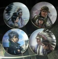 AUTHENTIC and numbered America's Indian Heritage Collection Lot Of 4 plates