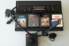 Console ATARI 2600 MOD AV PERITEL +5 jeux +1 manette+alimentation neuve (N°3694)