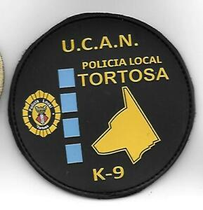 SPANIEN TORTOSA K9 POLIZEI  Aufnäher Patch Police
