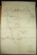 Carte ancienne 1838 De L'Île De Bréhat à Barfleur Bretagne manche côte d'Armor