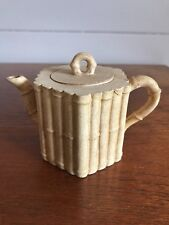 Vintage Authentic Small Chinese Yixing Clay Teapot Signed By Potter Bamboo