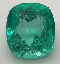 7.01 CT, CERTIFIED FINE NATURAL COLOMBIAN EMERALD LOOSE GEMSTONE, WATCH VIDEO