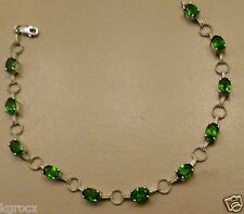 5.50 CTW NATURNAL RUSSIAN CHROME DIOPSIDE TENNIS BRACELET 7.25 INCHES  G8 COLOR