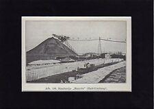 Antique matted print De Staatsmijn Maurits / Lutterade Geleen Limburg mine 1932