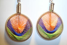 Peruvian Alpaca Silver & Handmade Dreamcatcher Thread  Earrings~NT6~uk seller