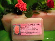 Rose Scented Handmade Soap Three 5oz Bars