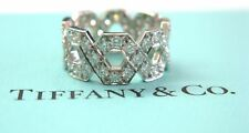 Tiffany & Co Platinum Hexagon Diamond Ring Size 4.5 1.20CT
