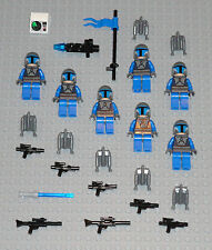 LEGO 7 STAR WARS Mandalorian Soldier Minifigures Lot Lightsaber Blasters Lego