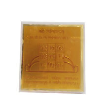 RELIGIOUS 24 C GOLD PLATED HOLY SHRI SHANI YANTRA WITH ACRYLIC FRAME STAND