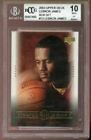 2003 Upper Deck #13 LeBron James Rookie Card BGS BCCG 10 Mint+