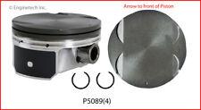 Engine Piston Set-ELECTRIC/GAS, DOHC, Natural, General Motors, 16 Valves