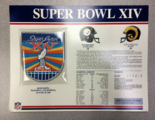 Super Bowl Xiv Patch Pittsburgh Steelers vs. Los Angeles Rams