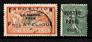 Francia - Sovrastampati - 2 valori