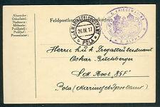 1917, Hungary naval Feldpost card, ship 'ALPHA'