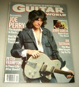 Guitar World December 1987 Aerosmith's JOE PERRY Jerry Garcia back from the Dead