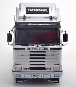 Road Kings 1/18 Model Diecast Truck Scania 143M Streamline 1995 Silver Black