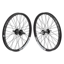 "Alienation Skylark BMX Bike Wheelset BkOps 36h Black Single Speed 20"" RHD"