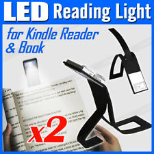 2x Portable Travel Flexible LED Clamp Clip On Reading Book Light Lamp