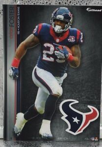 """Arian Foster 3 Fathead Houston Texans NFL 7"""" Decal Miami Dolphins Volunteers"""